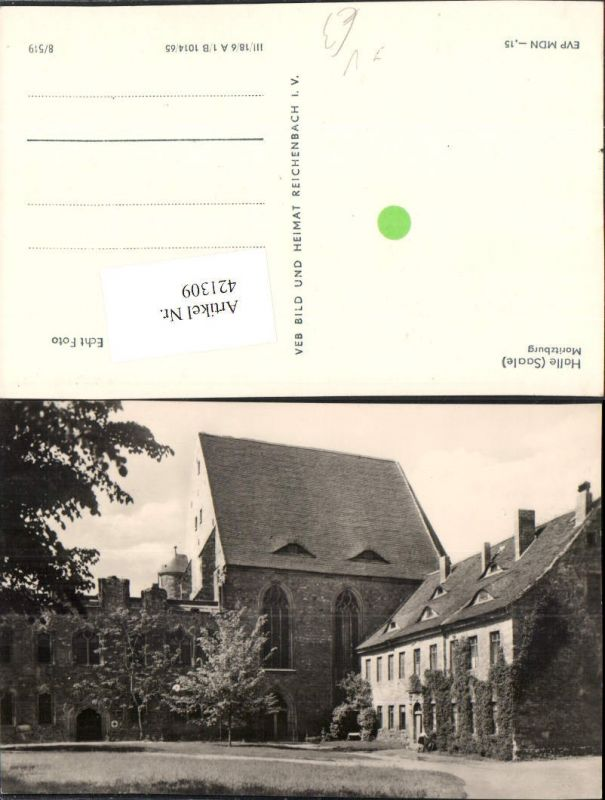 421309,Halle an d. Saale Moritzburg pub VEB