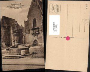 421338,Naumburg an d. Saale Brunnen-Denkmal Markgraf von Meißen am Dom