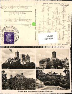 421464,Eisenach Wartburg Burg Mehrbildkarte