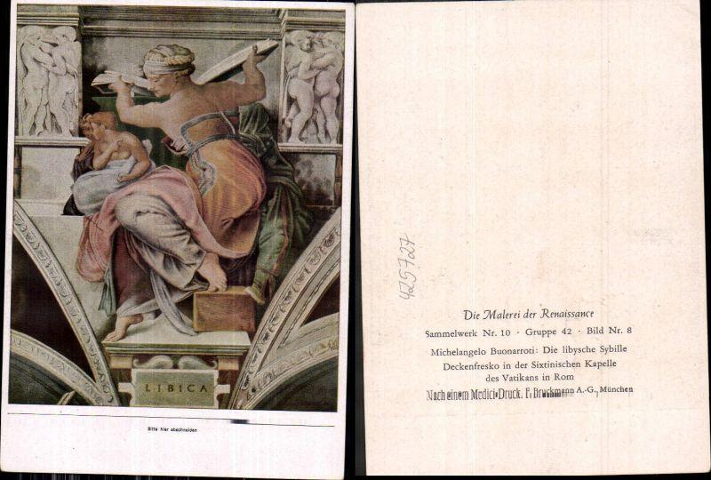 425727,Künstler Ak Michelangelo Buonarroti Die libysche Sybille Erotik Lesen Renaissance