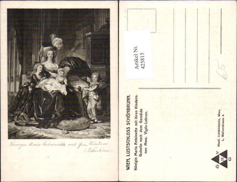 425815,Künstler Ak Mme. Vigee-Lebrun Königin Marie Antoinette mit ihren Kindern Adel Monarchie