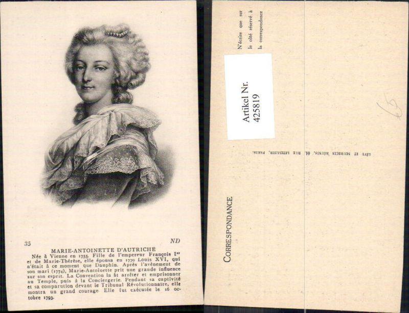 425819,Marie-Antoinette d Autriche Portrait Adel Monarchie
