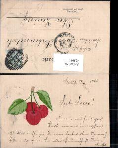 425951,Präge Ak Kirsche Obst Früchte