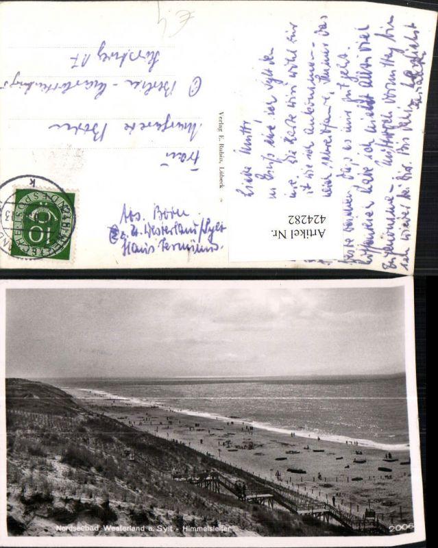 424282,Nordseebad Westerland auf Sylt Himmelsleiter Strand