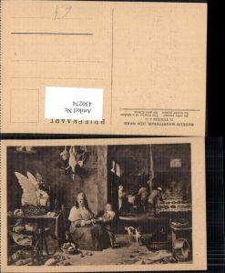 430274,Künstler Ak D. Teniers d. Jüngere Die gute Küche Kochen Heimarbeit Hausarbeit