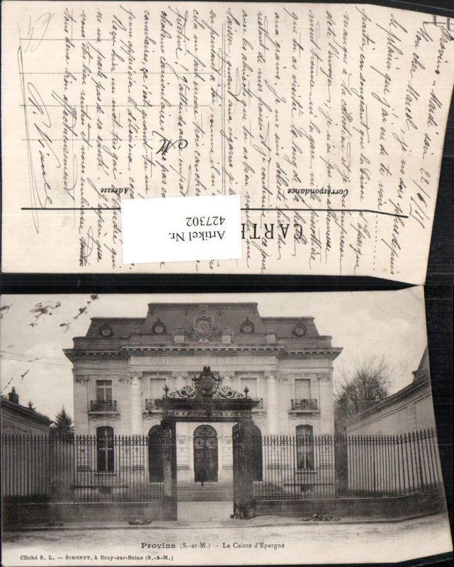 427302,Ile-de-France Seine-et-Marne Provins La Caisse d'Epargne Gebäude