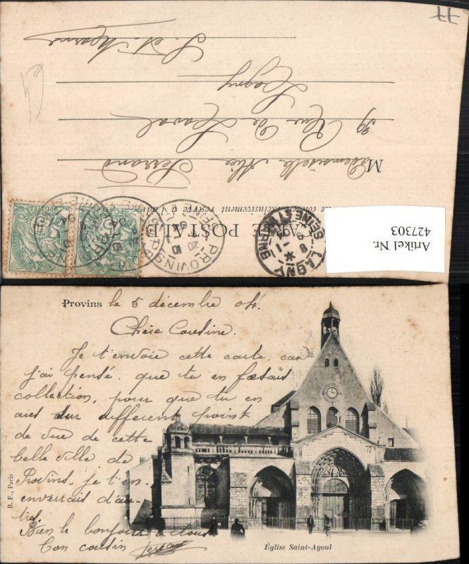 427303,Ile-de-France Seine-et-Marne Provins Eglise Saint Ayoul Kirche 0
