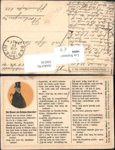 430318,Pälzer Humor-Postkarte 1 Der Bauer als Feinschmecker Text Humor Völlerei Übergewicht