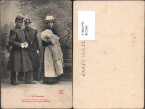 430340,La Nourrice Soldat Frau m. Baby Spruch Militärhumor Humor