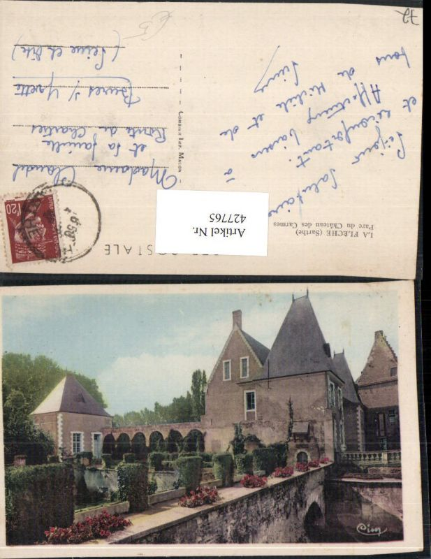 427765,Pays de la Loire Sarthe La Fleche Parc du Chateau des Carmes Schloss