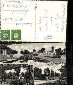 429364,Essen Gruga-Park Wasserspiele Rosengarten Mehrbildkarte