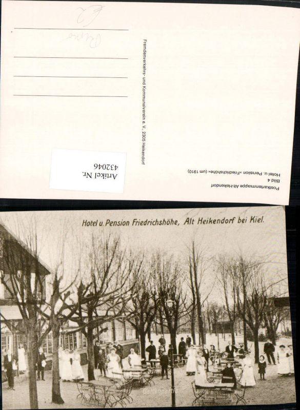 432046,Repro Alt-Heikendorf Hotel u. Pension Friedrichshöhe Gastgarten 1910