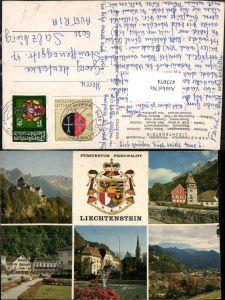 433074,Fürstentum Liechtenstein Vaduz Schloss Rotes Haus Regierung Mehrbildkarte