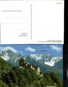 433076,Fürstentum Liechtenstein Schloss Vaduz Bergkulisse