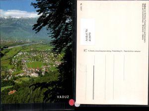 433079,Fürstentum Liechtenstein Vaduz Totale m. Schloss Bergkulisse