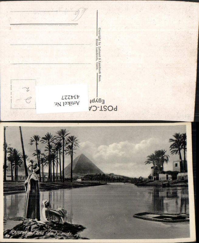 434227,Egypt Cairo Kairo Flood Time near Pyramids Pyramide Volkstypen