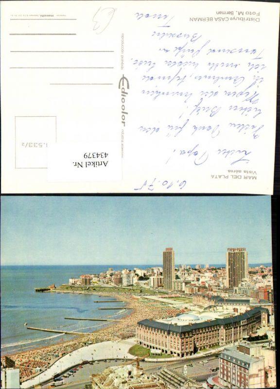 434379,Argentina Mar del Plata Vista aerea Teilansicht m. Strand