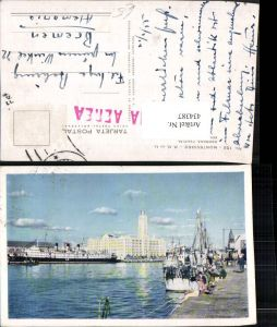 434387,Uruguay Montevideo Darsena Fluvial Edificio de la Aduana Hafen Dampfer Boote