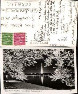 434511,Washington DC Cherry Blossoms along Tidal Basin Monument Obelisk Baumblüte