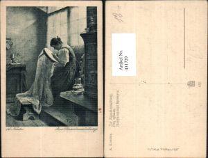 431729,Künstler Ak A. Koester Zur Brautausstattung Sticken Nähen Frau Heimarbeit Hausarbeit