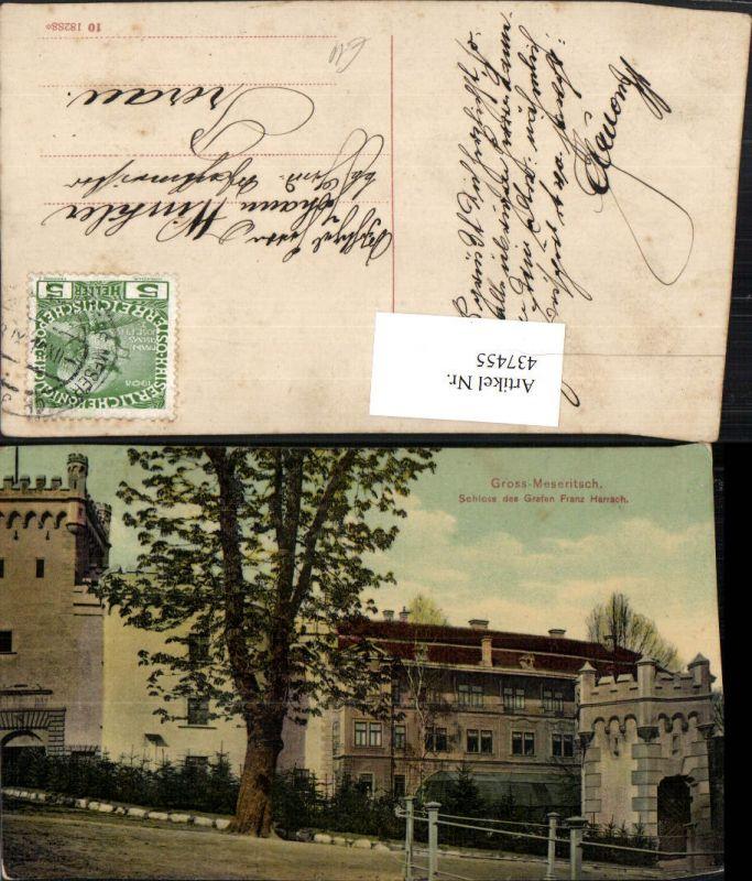 437455,Groß-Meseritsch Velke Mezirici Schloss des Grafen Franz Harrach
