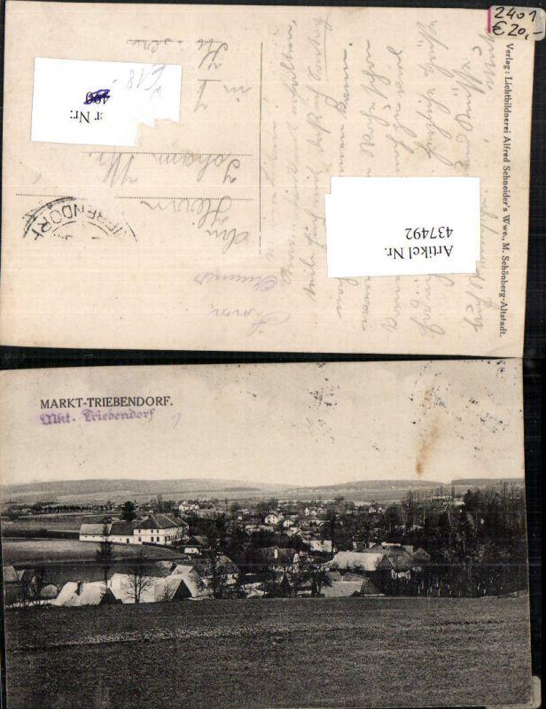 437492,Markt Triebendorf Trebarov Teilansicht