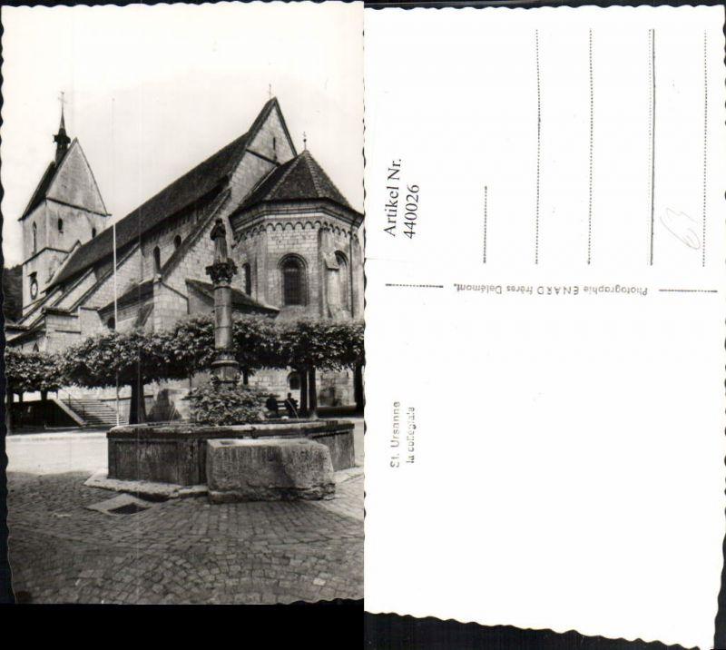 440026,Saint-Ursanne La Collegiale Kirche Brunnen Kt Jura