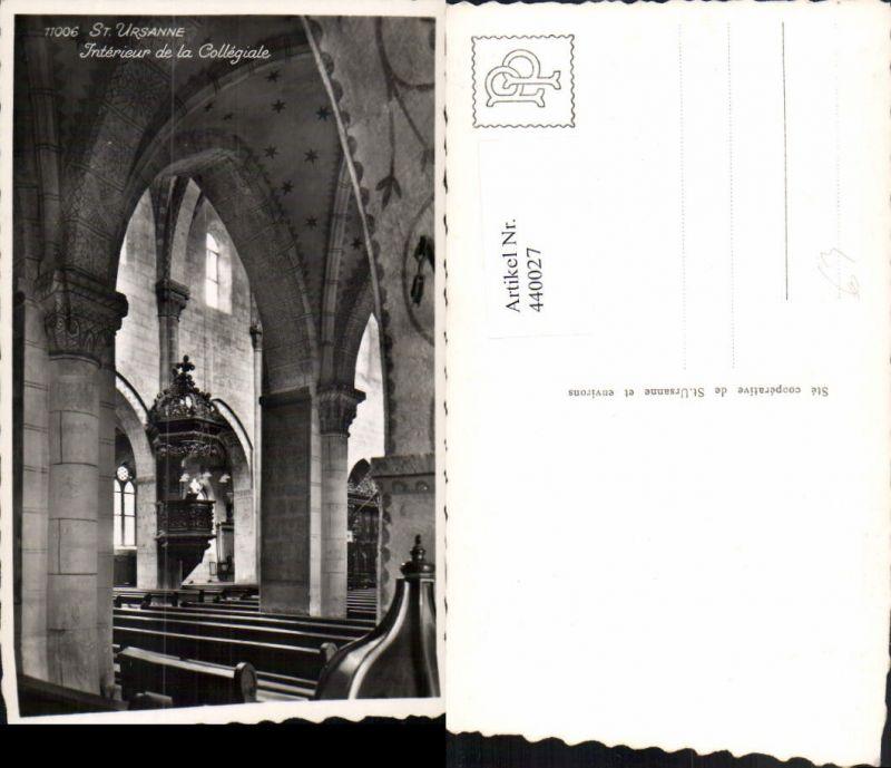 440027,Saint-Ursanne Interieur de la Collegiale Kirche Innenansicht Kt Jura