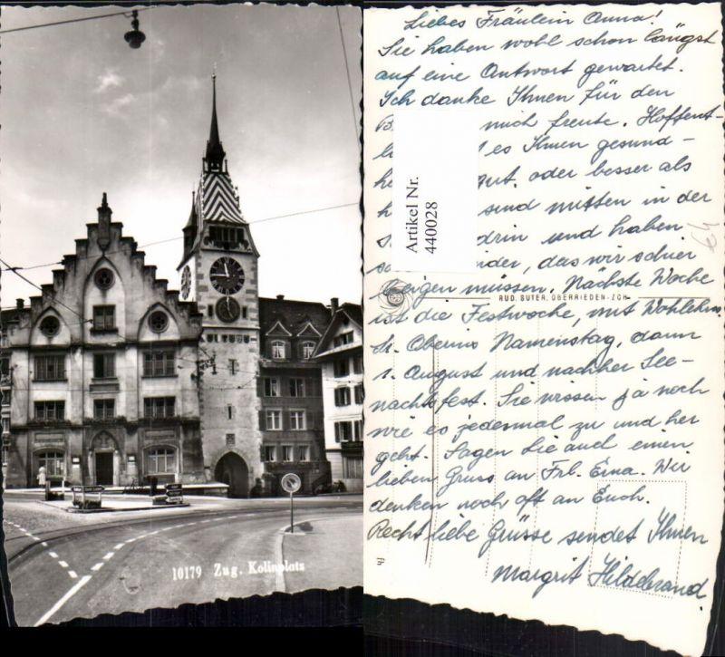 440028,Zug Kolinplatz Platz Turm Uhr