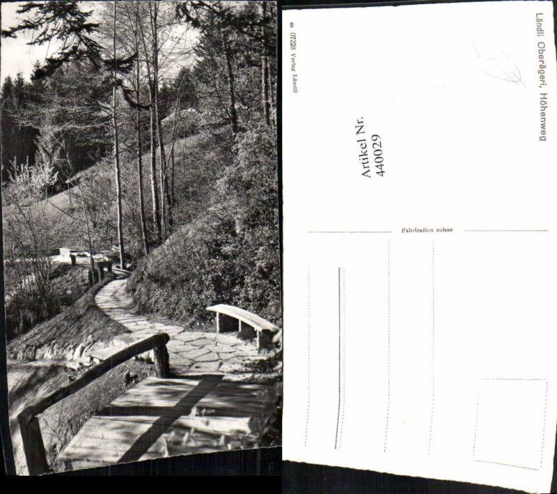 440029,Ländli Oberägeri Höhenweg Wegpartie Kt Zug