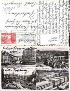 440181,Fribourg Freiburg Totale Brücke Universität Hotel Mehrbildkarte