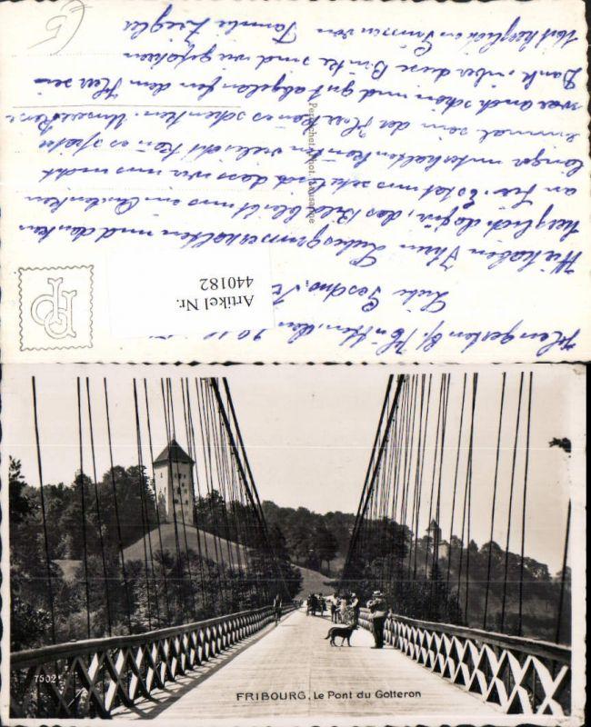 440182,Fribourg Freiburg Pont du Gotteron Brücke