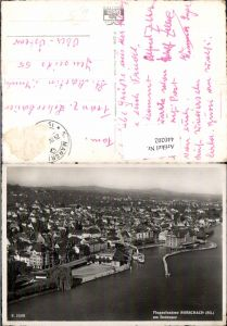 440202,Rorschach am Bodensee Totale Fliegeraufnahme Kt St Gallen