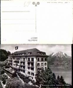 440217,Bürgenstock Parkhotel m. Pilatus Bergkulisse Kt Nidwalden