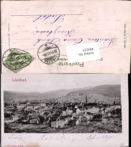 440225,Reliefkarte Liestal Totale Kt Basel-Land