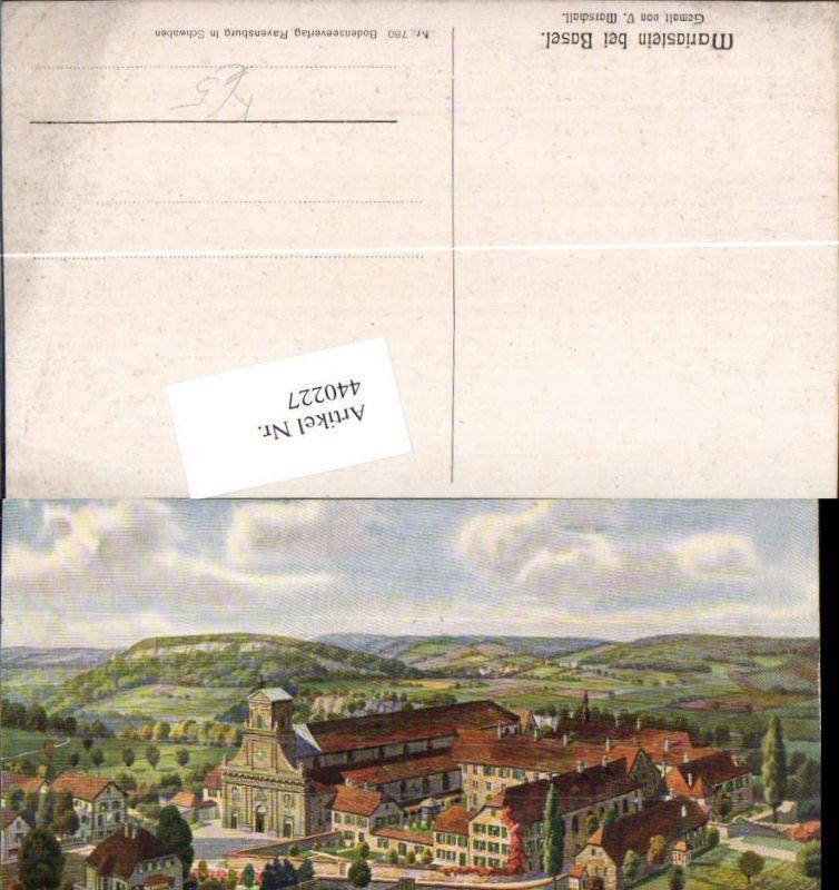 440227,Künstler AK V. Marschall Mariastein b. Basel Kloster Kt Basel-Land