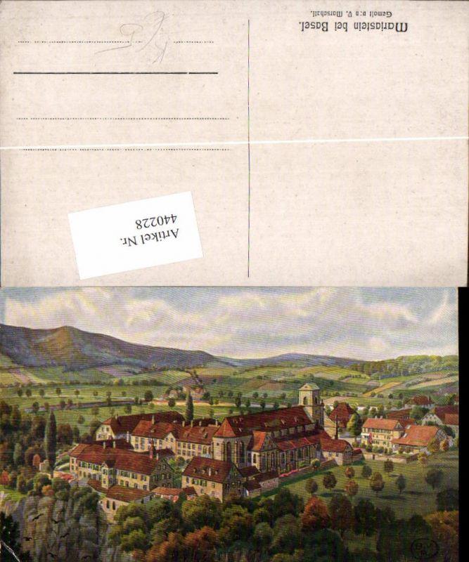 440228,Künstler AK V. Marschall Mariastein b. Basel Kloster Kt Basel-Land