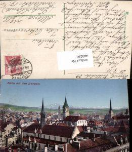 440291,Zürich Teilansicht m. Bergen pub Carl Künzli 5123