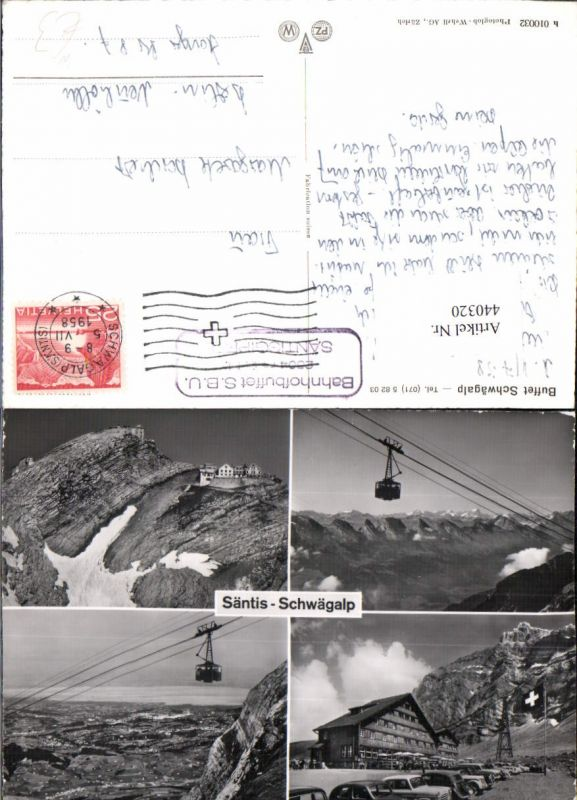 440320,Säntis Schwägalp Seilbahn Berghütte Mehrbildkarte Kt Appenzell