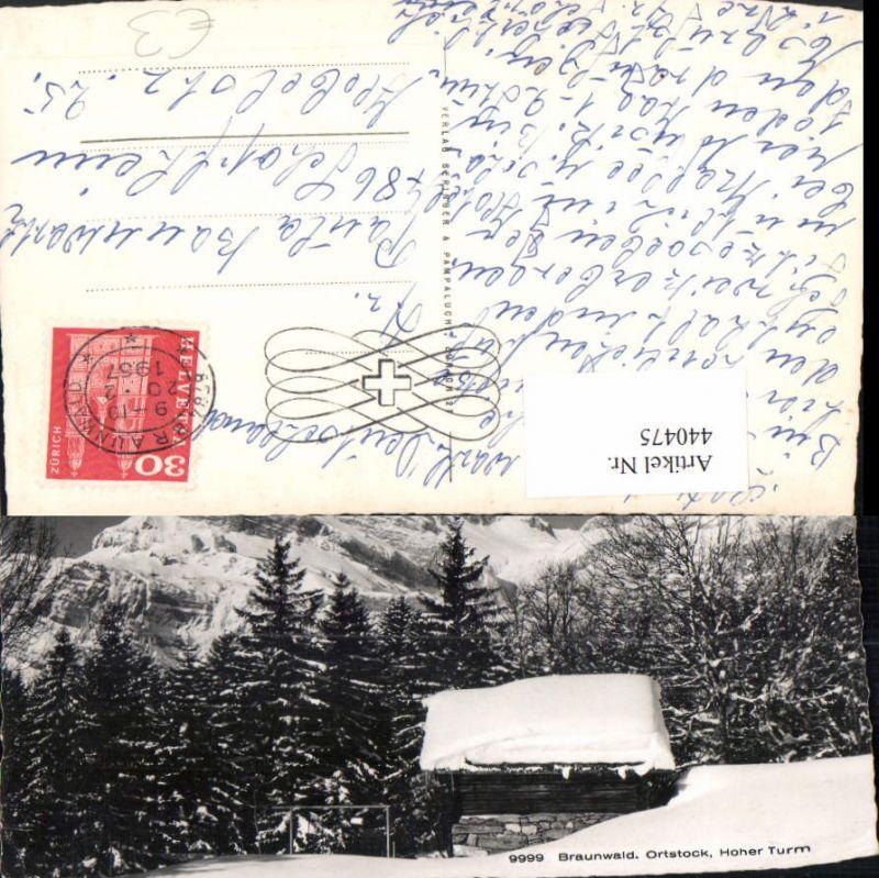 440475,Braunwald Ortstock Hoher Turm Bergkulisse Kt Glarus
