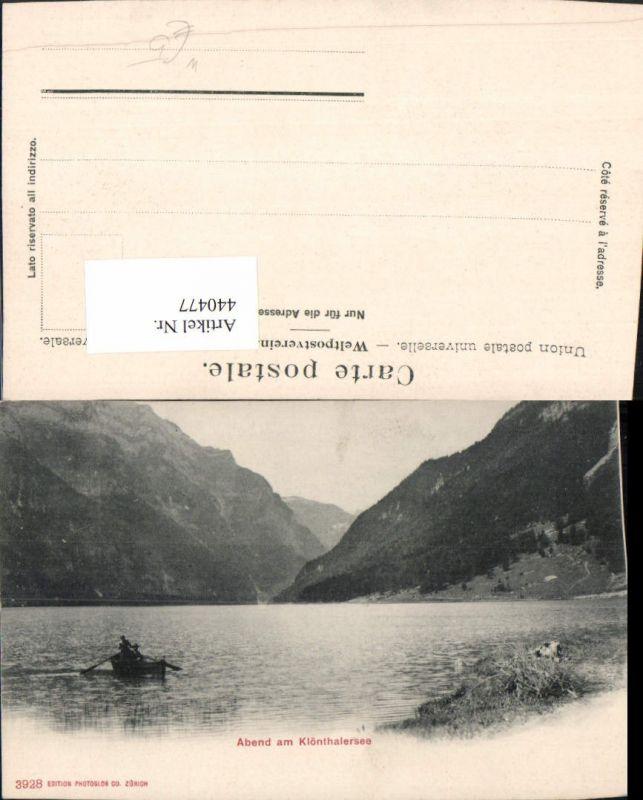 440477,Abend am Klönthalersee See Bergkulisse Kt Glarus