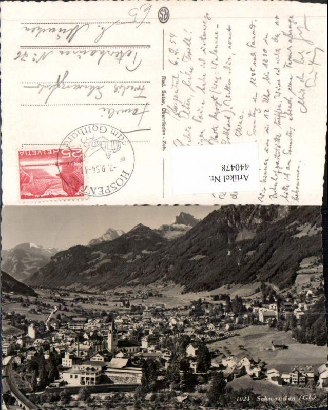440478,Schwanden Totale Bergkulisse Kt Glarus