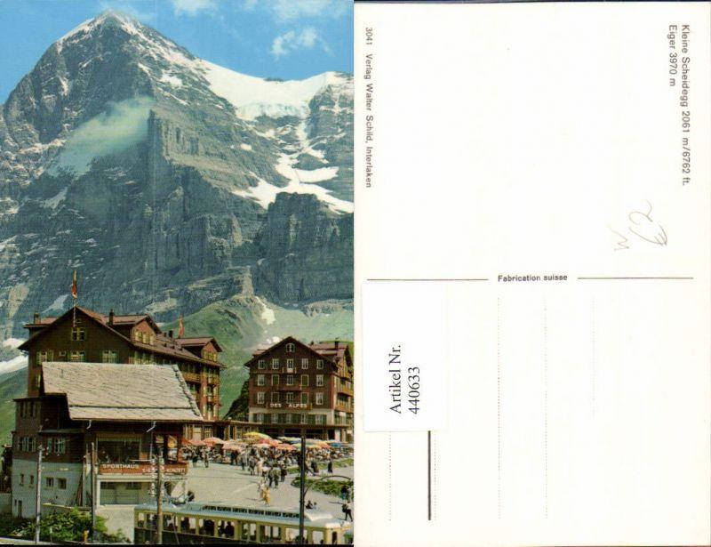 440633,Kleine Scheidegg Sporthaus m. Eiger Bergkulisse Kt Bern