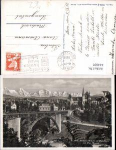 444807,Bern Kirchenfeldbrücke m. Kunsthaus Museum Brücke
