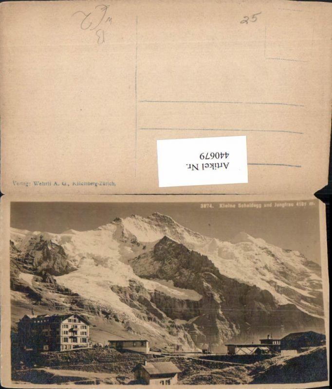 440679,Kleine Scheidegg m. Jungfrau Bergkulisse Kt Bern