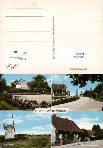 440978,Groß Sisbeck Mühle Windmühle Dorfplatz Gemischtwaren Heber Mehrbildkarte