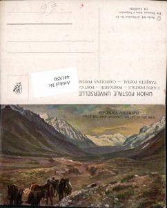 441850,Künstler AK Argentina Valle del Inca Incatal Bergkulisse
