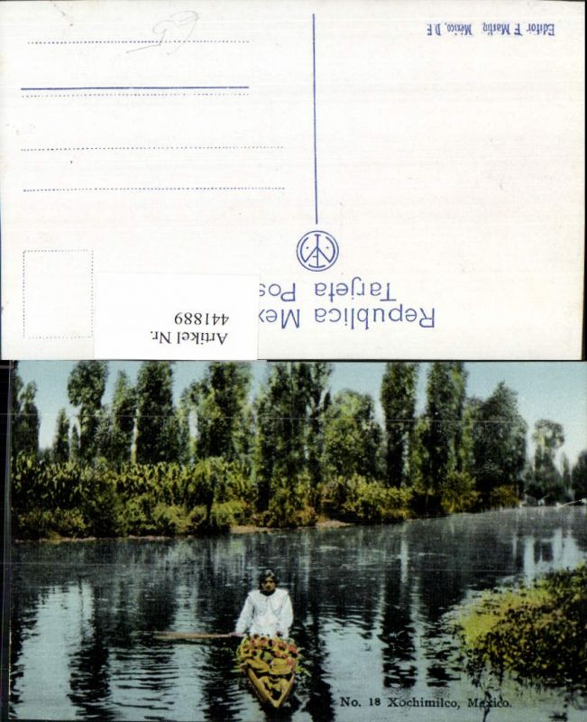 441889,Mexico City Xochimilco Fluss Boot