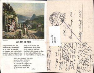 445081,Liedkarte A. Broch Das Herz a. Rhein Musik Feldpost 832 Pionier Korps 245