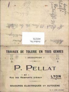 445279,Reklame P. Pellat Lyon Travaux de Tolerie en Tous Genres
